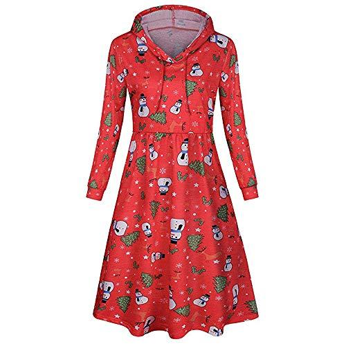 Shirred Zebra - Womens Sweater,Kulywon Women's V-neck Long Sleeve Christmas Print Hooded Pocket Casual Party Mini Dress(XXL/US 12,Red)