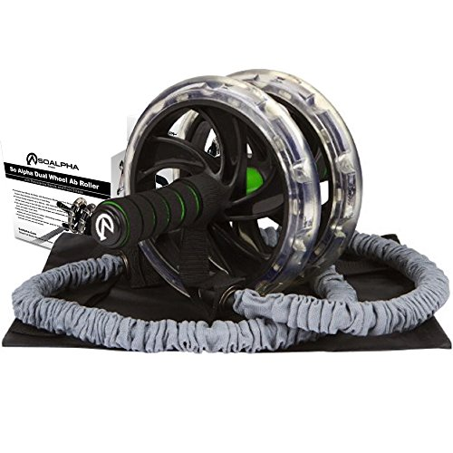 So-Alpha-Premium-Dual-Wheel-Ab-Roller-with-Resistance-Bands-Foot-Straps-Comfort-Grip-Handles-Knee-Pad-Great-Ab-Wheel-for-Home-Office-Shred-Belly-Fat-Strengthen-Core-For-Men-Women