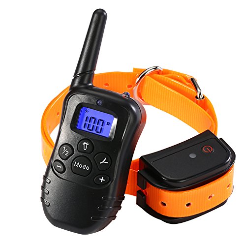 Remote Dog Training Collar – Rechargeable and 100% Waterproof Dog Shock Collar 330 yd with Beep/Vibrating/Shock Electric E-collar
