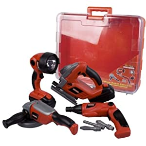 craftsman power tools. my first craftsman 4 toy power tools in carry case
