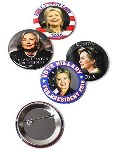 Presidential Campaign 2016 Hillary Clinton Pinback Buttons - 2.25 Inch Round - 5 - Round Her Button 2.25