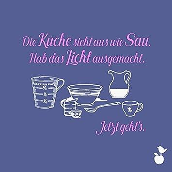 20 Servietten lustige Sprüche - Küche 33x33cm: Amazon.de: Drogerie ...
