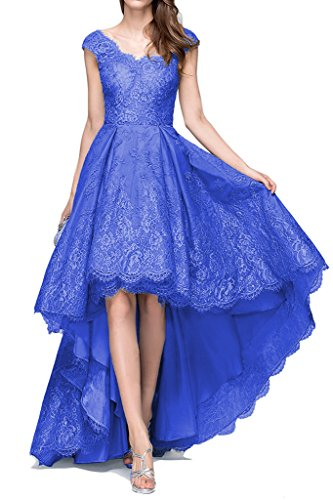 Hi Blue Lang Royal Low Kleider Abendkleider Bainjinbai BrautjungfernKleider Spitze Party Cocktail Applikation wPqCggtnU