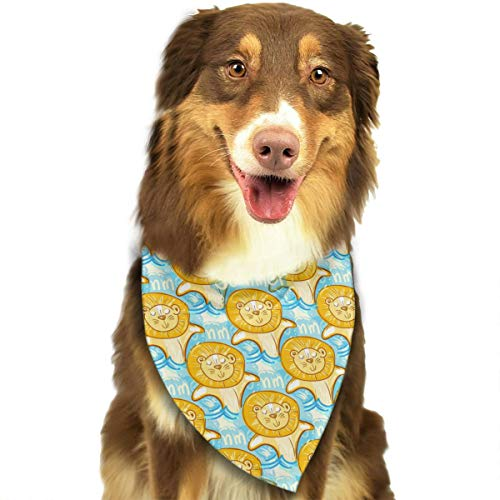 ANYWN Pet Dog Bandanas Triangle Bibs Scarfs Young Lions Swim Sea Pattern Accessories for Puppies Cats Pets Animals Large Size -