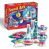 AMAV Sand Art Glitter & Glow Activity Kit - DIY Make Your Own Beautiful Colorful Sand Art in Bottle
