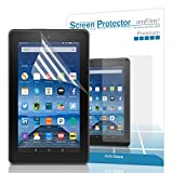 Fire 7 2015 Screen Protector, amFilm® New Kindle Fire 7 inch 2015 (5th Generation) Anti-Glare/Fingerprint Matte Screen Protector (2-Pack) [Lifetime Warranty]