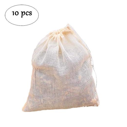 Bolsa de filtro de gasa de tela de algodón puro, 10 bolsas ...