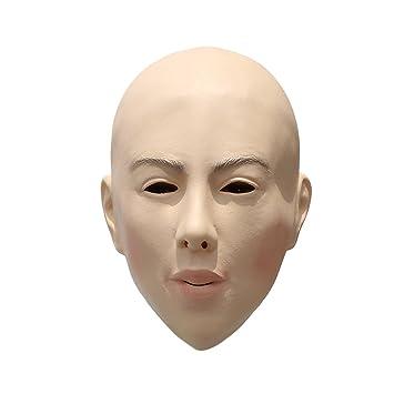 BESTOYARD Máscara de Halloween Máscara de Látex Traje de Máscara Calva Cosplay Scare Props