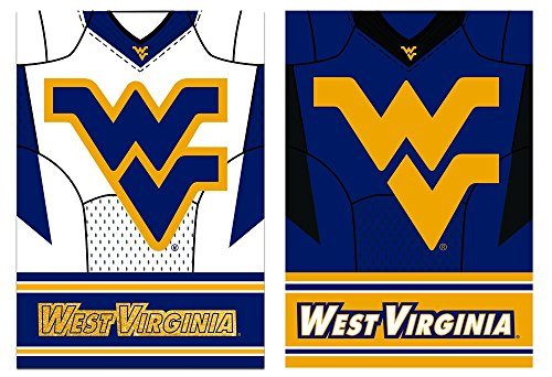 Team Sports America West Virginia Mountaineer Double Sided Jersey Suede Garden Flag, 12.5 x 18 inches