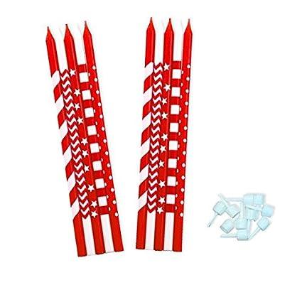 Amazon.com: Givi Italia 50998 - Velas (6.1 in), color rojo ...
