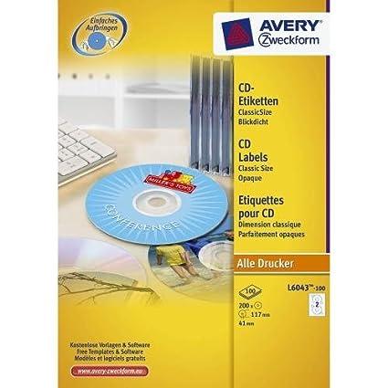 Avery L6043-100 etiqueta de impresora - Etiquetas de ...
