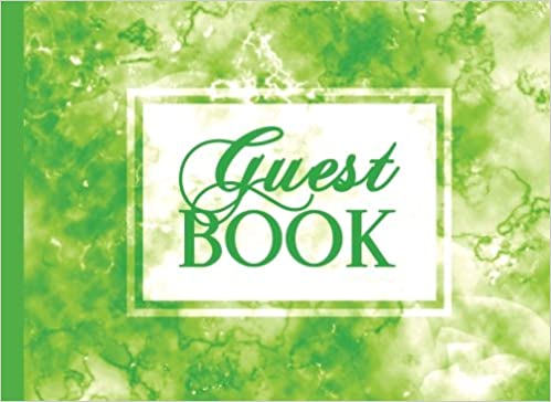 Guest Book: Green Guestbook 100 Pages, For Vacation Rental