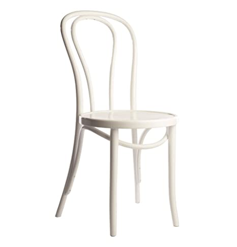 Pleasing European Bentwood Wood Dining Chairs White 2 Pack Machost Co Dining Chair Design Ideas Machostcouk