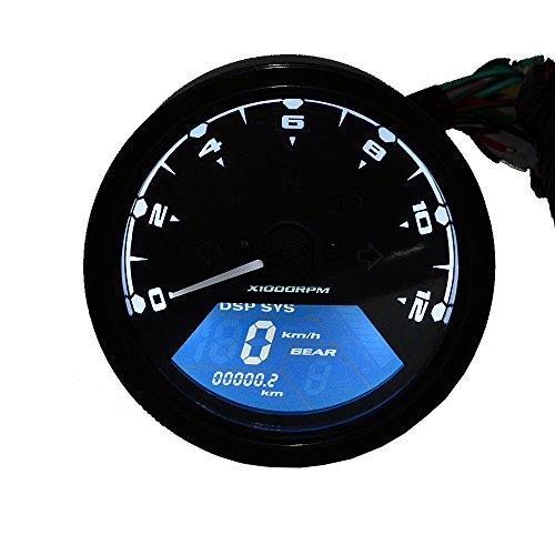 hot sale 2017 TurnRaise Universal LCD Digital Indicateur de Vitesse Assemblée Odomètre Motorcross F1 F2 F4 Cylindres CF125 Moto Tachymètre (Moto Tachymètre)