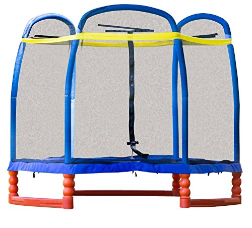 SkyBound Super 7 The Perfect Kid's Indoor/Outdoor Trampoline, 84' H