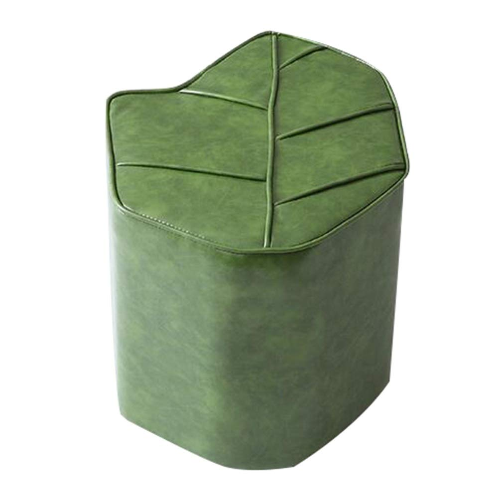 Green 45X36X38cm AGLZWY Low Stool Multipurpose Oil Wax Sipi Fashion Personality Living Room Sofa Stool Leather Stool, 3 colors, 45X36X38cm (color   A, Size   45X36X38cm)