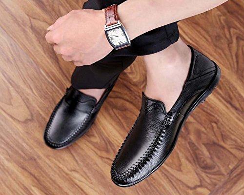 de Zapatos Mediana Gran Informales de Hombres Tamaño Nuevo 37 de de Respirables Padre Negocios para Tamaño Negro de Color Zapatos Guisantes Zapatos Edad SvaOr7qS