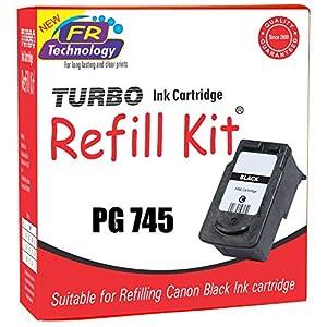 TURBO INK CARTRIDGE REFILL KIT for Canon PG 745, Pixma, iP2870, iP2870S, iP2872, mg3077s, mg2470, mg2570, mg2870 and MX497 (30 ml, Black) - Set of 2