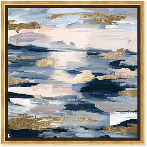 The Oliver Gal Artist Co. Abstract Framed Wall Art Canvas Prints 'Smoke on The Water' Paint Home D cor
