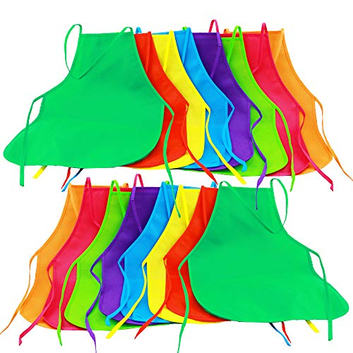 Colors Fabric Aprons Painting Aprons Children's Art Smock for Kitchen, Classroom, Painting Activity ()
