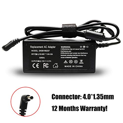 - 19V 2.37A 45W AC Adapter Laptop Charger Compatible Asus X553 X553M X553MA X553S X553SA X553SA-BHCLN10 Power Supply
