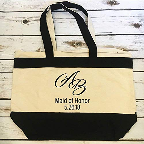 Amazoncom Personalized Maid Of Honor Tote Gift Bridal Party Gift