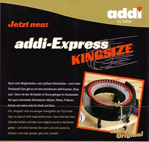 addi Express King Size Knitting Machine Kit includes 46 needles by addi