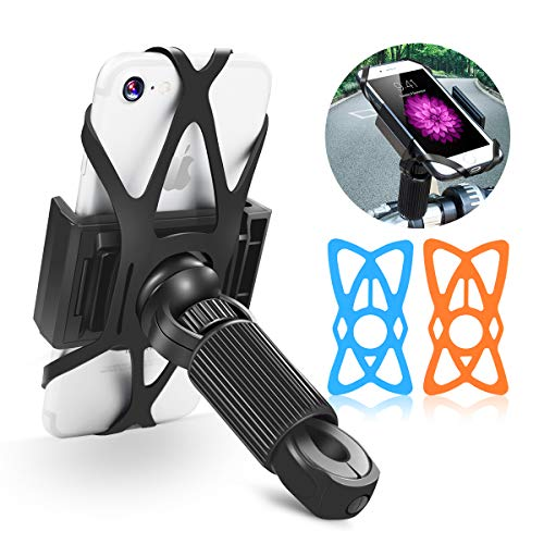 YOTEFUN Bike Phone Mount,Motorcycle Bicycle Phone Mount Handlebar Holder with Powerful Fixture and 360 ° Rotation,Bike Phone Holder for Smartphone/GPS(4.7 to 6.5 inchs)