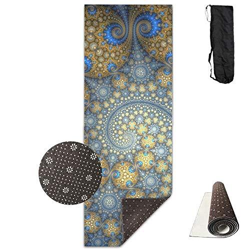 Artistic Digital Art Fractal Pattern Swirl 7680x4320 Premium Print Durable Concise Fun Printing Yoga Mat for Yoga, Workout, Fitness - Printing Durable
