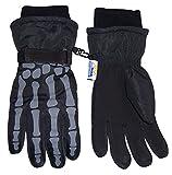 N'Ice Caps Boys Skeleton Print Waterproof Reflector Glove (6-8yrs)