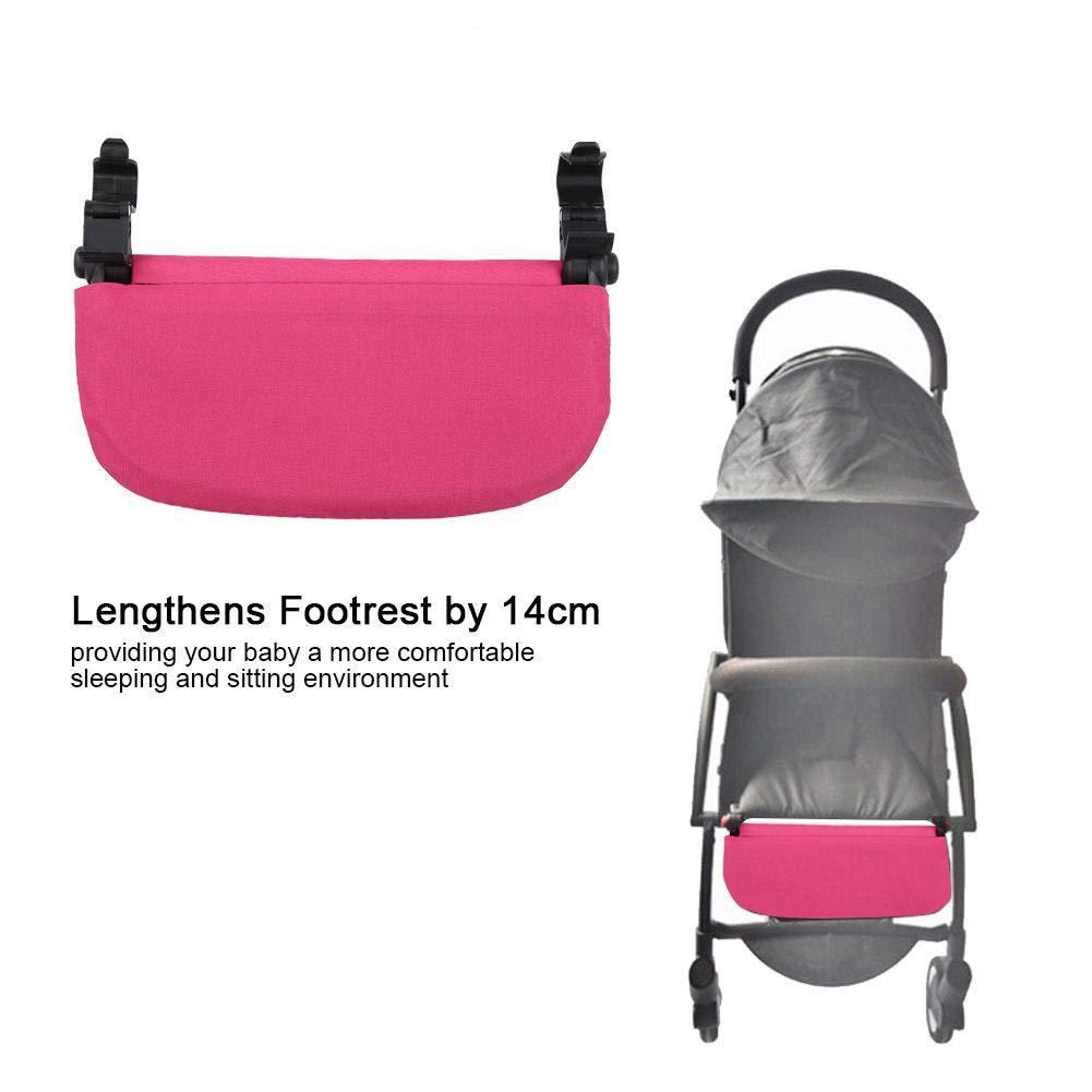 Poussette b/éb/é 5.5 pouces Extension Repose-pieds Pieds Universels Extension Infant Landau Landau Pied Support Support Accessoire Noir