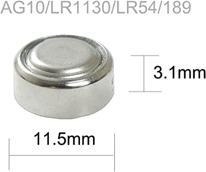 LR1130 AG10 LR54 189 389 G10 1.5v Alkaline Button Coin Battery 8pcs //4Cards