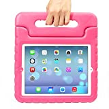 iPad Case,iPad 2 Case,iPad 3 Case,iPad 4 Case - Grand Sky-Light Weight Shock Proof Convertible Handle Stand Kids Friendly for Apple iPad 2/3/4 (Ipad 2/3/4, pink)