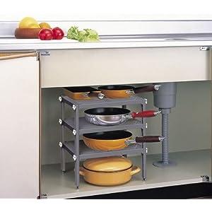 キッチン3段フリーラック PS-486