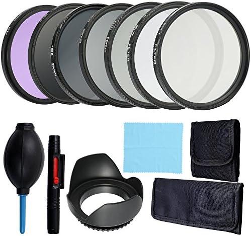 Rakuby プロ レンズとフィルターバンドル 完全でコンパクト カメラアクセサリーキット 写真アクセサリー 58mm