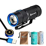 Turbo S Version Olight S1R 900 Lumen USB Rechargeable LED Flashlight - Compact EDC Light with Mini Magnetic Dock Charger, Rechargeable Battery and a LumenTac CR123A Battery