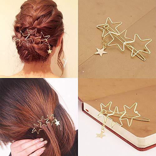Women Ladies Hollow Star Hair Accessories Hair Clips Tassel Hair Pin Fashion (Plum Fashion Pet)