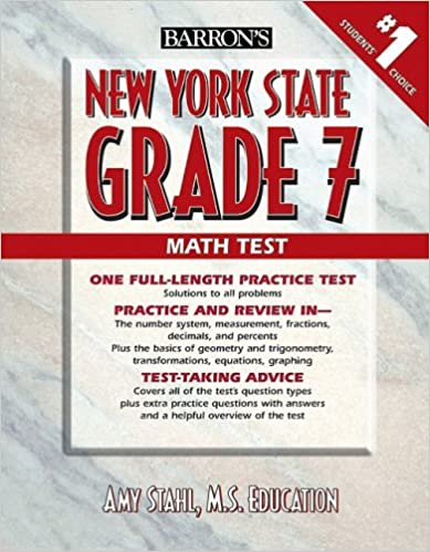 Counting Number worksheets grade 7 math probability worksheets : Amazon.com: Barron's New York State Grade 7 Math Test ...