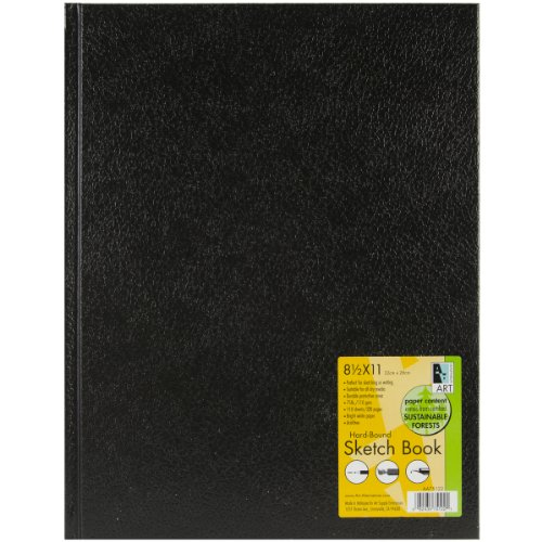 Black Hardbound Sketch Book 8.5X11 by Art Alternatives