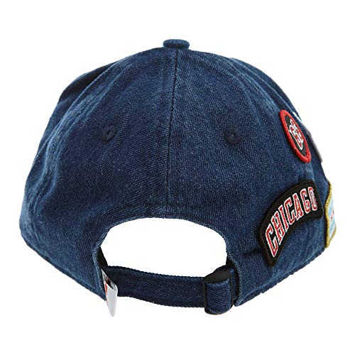 Unica Regolabile Draft 9twenty Era Denim Chicago Blu Taglia New 2018 nbsp;nba Bulls Cappellino gTwE7q4