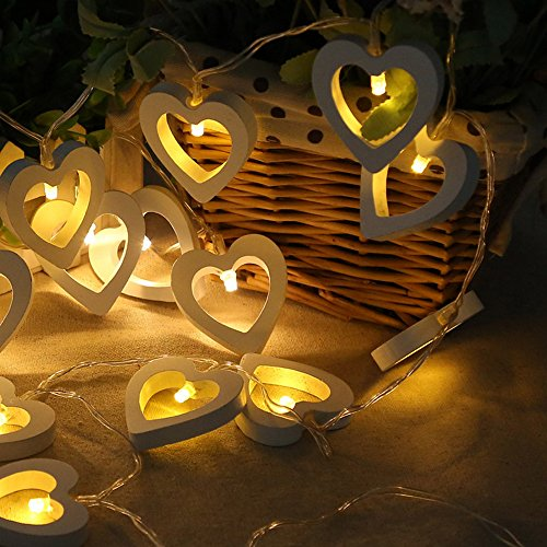 Wooden Heart Led Lights in US - 1