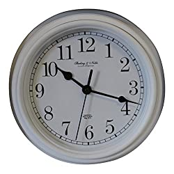 Sterling & Noble 8.75 Analog Wall Clock - White