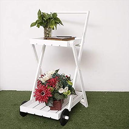 5e2bf73cd434 Estantería De Flores Estilo Pastoral De Madera Maciza Bastidores Plantas De Interior  Tienda De Flores Ropa