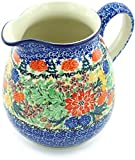 Polish Pottery 6 Cup Pitcher made by Ceramika Artystyczna (Hidden Pines Theme) Signature UNIKAT + Certificate of Authenticity