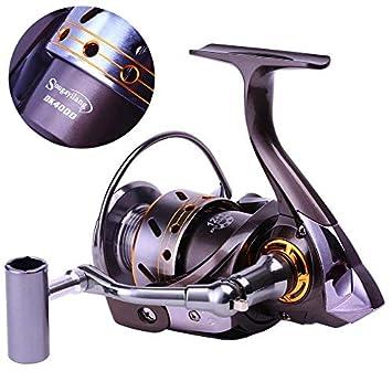 Sougayilang Fishing Reel Spinning -12 1BB Ultralight Smooth Powerful Spinning Reels for Freshwater Saltwater Bass Fishing