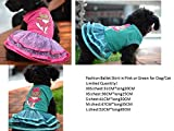 REIENE Exclusive! Handmade Fashion Outfit Ballerina Skirt dress in Pink or Green for Dog cat CUTE CUTE CUTE! Transformation Outfit SUPER Cute and Easy to Wear Fashion for Your Pet! Buy Any 2 Items and GET FREE REIENE Exclusive GIFT Limited Time Offer!