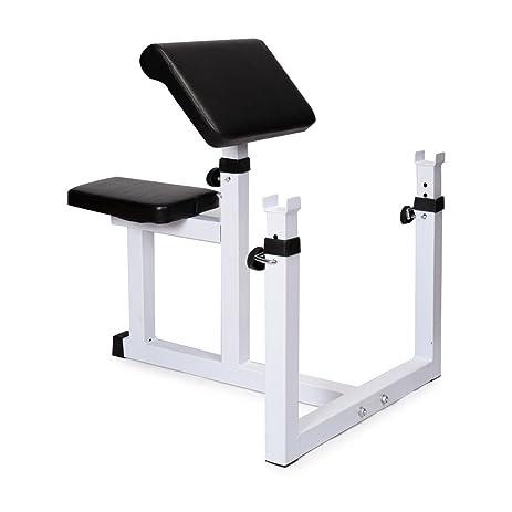 Sportmad Preacher Curl Bench Weight Press Rack Adjule Seated Dumbbell Roman Chair Hyperextension