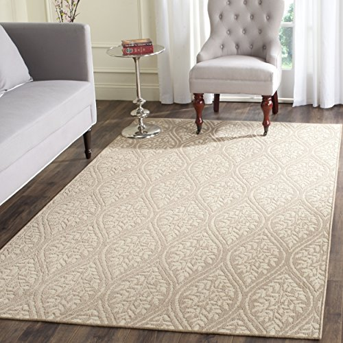 12' Sand Area Rug (Safavieh Palm Beach Collection PAB515A Hand Woven Sand and Natural Jute Area Rug (9' x 12'))