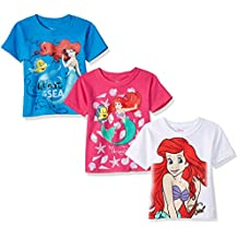 Disney Girls' The Little Mermaid Ariel 3-Pack T-Shirt