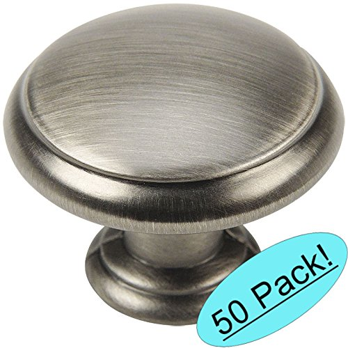 Cosmas 5422AS Antique Silver Cabinet Hardware Mushroom Knob - 1-3/16